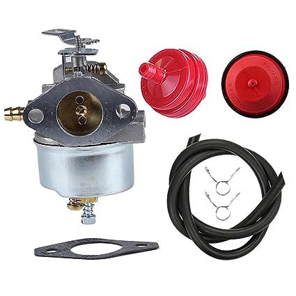 butom am108405 carburetor with primer bulb fuel filter line for john deere  526 726 732 826