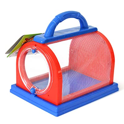 RuiyiF Bug House Insect Catcher Kit for Kids, Mesh Insect Cage and Butterfly Magnifier, Catching Kit for Butterfly Cicadas Grasshoppers (Pink Blue): Toys & Games