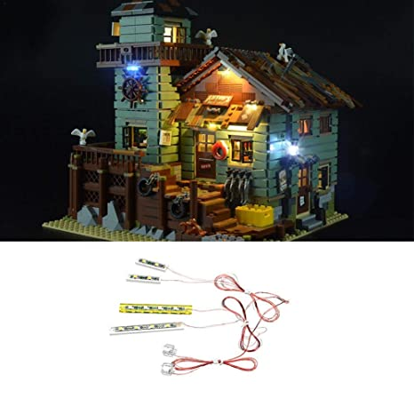 For Lego 21310 Fishing Store Building Blocks Model LED Light Lighting Kit ONLY