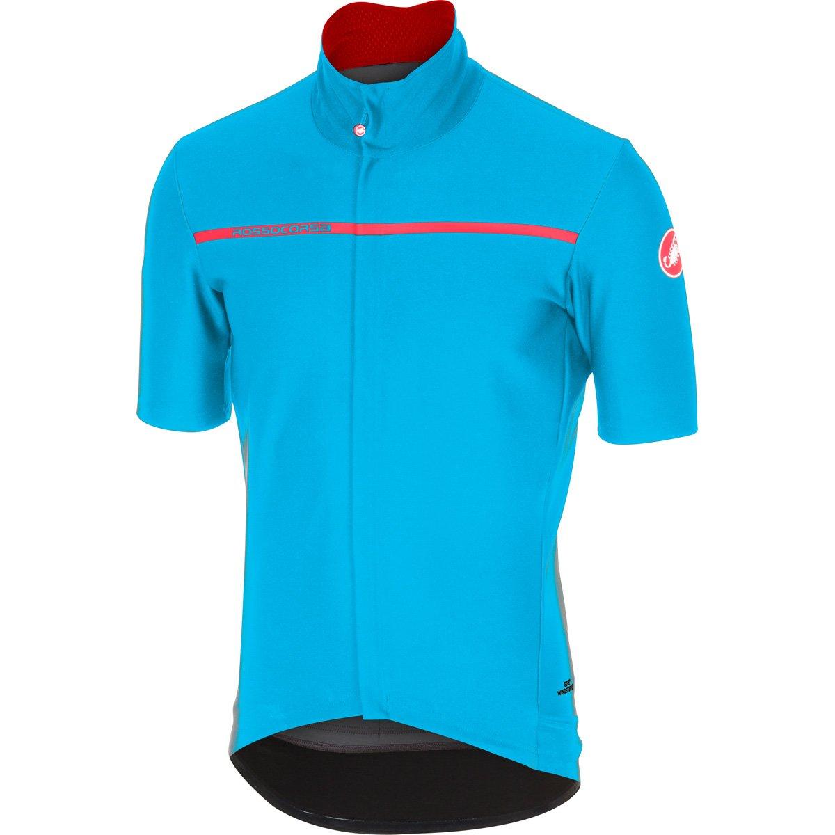 CastelliメンズGabba 3半袖サイクリングjacketb17084 B075ZN9L3D Small|スカイブルー スカイブルー Small