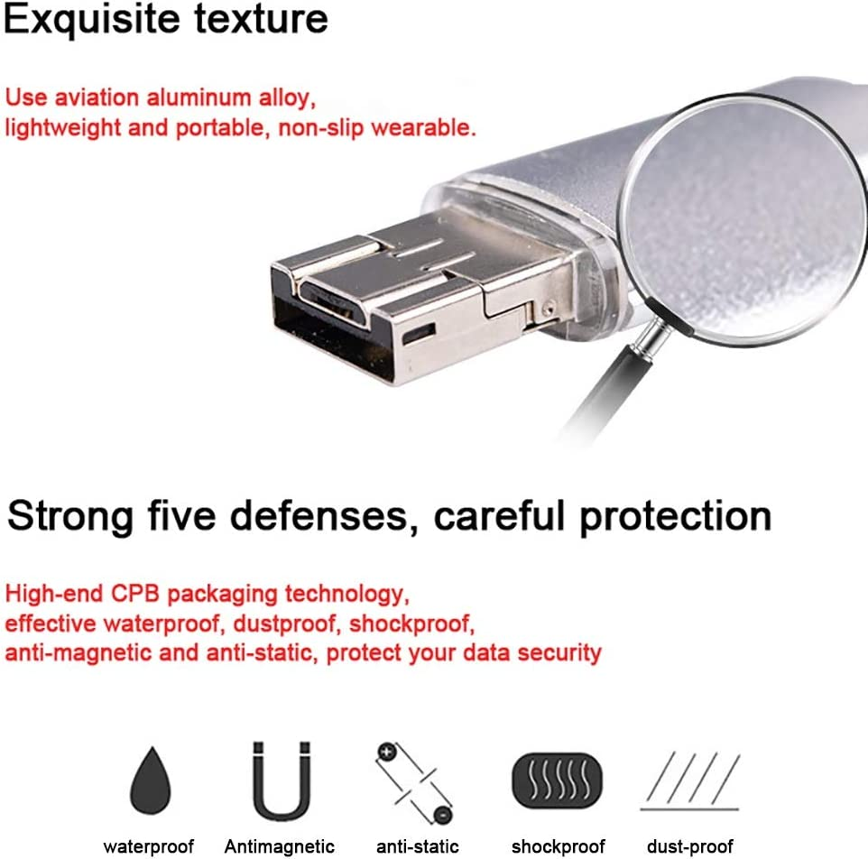 Type-c Interface 4//8//16//32GB Three-in-one 64GB//128GB Security Waterproof and Shockproof Dust-Proof OTG Metal USB Flash Drive Color : 4GB ZCP Android Mobile Phone USB Flash Drive