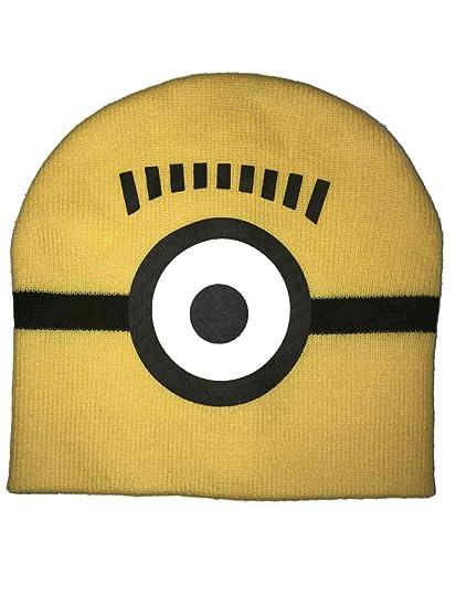 Amazon.com  Minion one Eye Kids Knit hat  Clothing bdfbb531d119