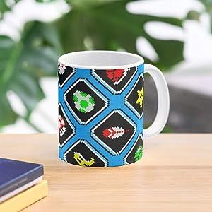 Retro Geek Gaming Video Funny Pattern Game Vintage Nostalgia Best 11 Ounce Ceramic Coffee Mug Gift