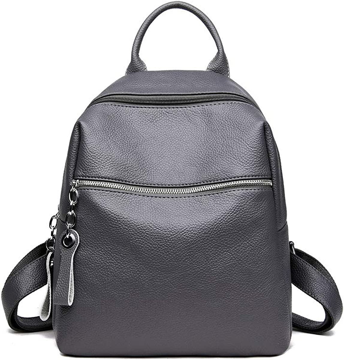 ZHICHUANG Girls Multipurpose Backpack for Daily Travel//Outdoor//Travel//School//Work//Fashion//Leisure Simple and Stylish for Women /& Men Black//Gray//Blue//Red PU Leather