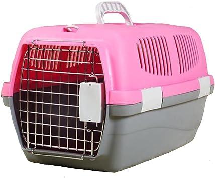 Amazon.es: Love pet Caja de Aire para Mascotas Maleta portátil para automóvil Cat Jaula para Perros Perro de tamaño Mediano Fuera del Equipaje de facturación de la aeronave (Color : Pink,
