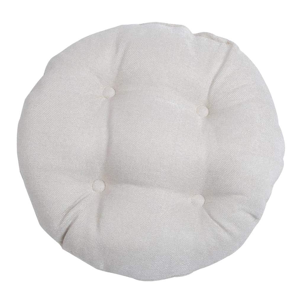 B Blesiya Cuscino per Sedia Poltrona Divano Rotondo Bianco 30cm