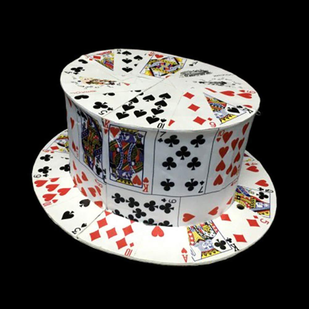 大切な Card Fan to to Card B07L9LHD5N Top Hat/ 金属製 カードが帽子に変わる 金属製 ちょうづかい カードファンはカードハットになる 面白い 笑い滑稽マジック 近景舞台マジック道具 マジックアクセサリー 手品道具 B07L9LHD5N, ガッツ ブランドショップ:853b4662 --- arianechie.dominiotemporario.com