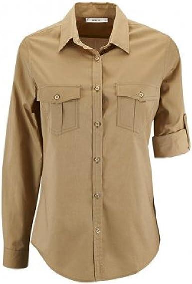 SOLS - Camisa de popelín Manga Enrollable Modelo Burma para ...
