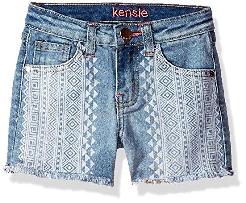 kensie Big Girls' Casual Short (More Styles Available), 3022 Light Blue Denim, 8 by kensie