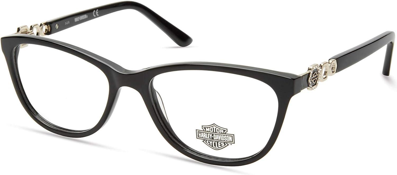 Eyeglasses Harley-Davidson HD Discount mail order 0554 001 Las Vegas Mall Shiny Black