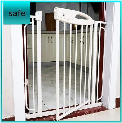 QIANDA Barrera Seguridad Niños Protector Escaleras Bebe con Puerta ...