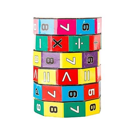 ZAOZINIU- Rompecabezas para Niños Cubo de Rubik Aprendizaje temprano Aritmética - División de Multiplicación de