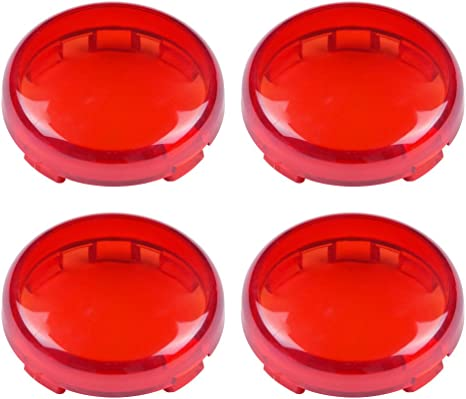 ZYTC Red Harley Turn Signal Lens Covers Lenses for Harley-Davidson Pack of 2
