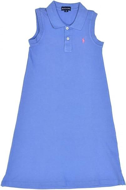 Ralph Lauren Polo Vestido Carol para niña, Color: Azul: Amazon.es ...