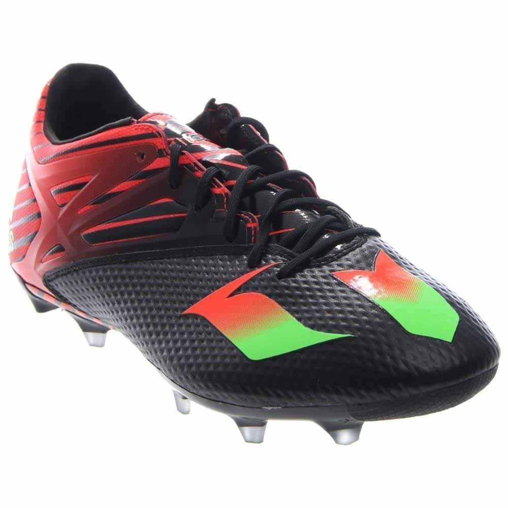 adidas Performance Men's Messi 15.2 Soccer Shoe,Black/Shock Green/Solar Red,8.5 M US