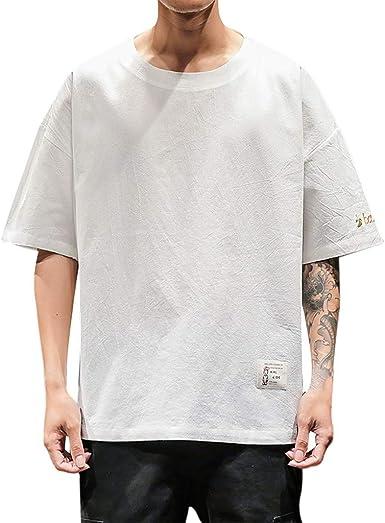 Sylar Camisetas Hombre Manga Corta Color Sólido Camisetas Hombre ...