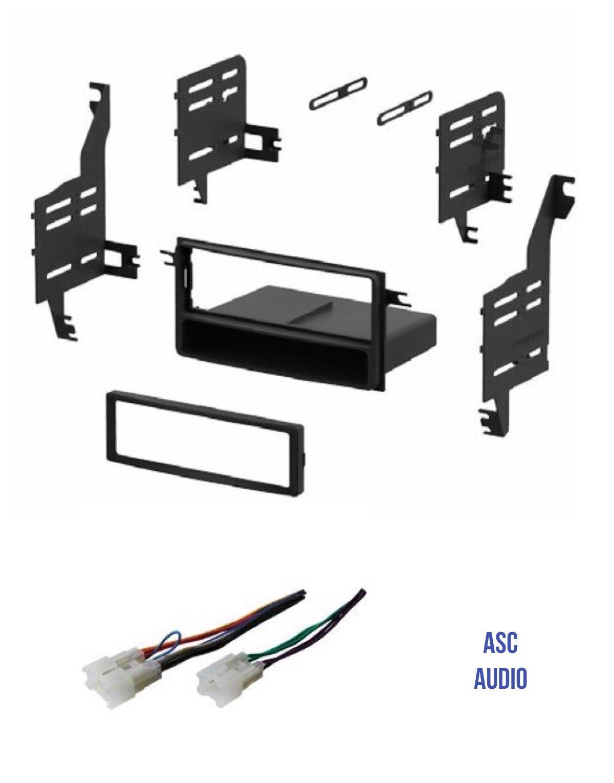ASC Single Din Car Stereo Install Dash Kit and Wire Harness for 2005-2010 Scion tC, 2004-2006 Scion xA, 2004-2014 Scion xB, 2008-2014 Scion xD, 2007-2010 Toyota FJ Cruiser, 2007-2011 Toyota Yaris