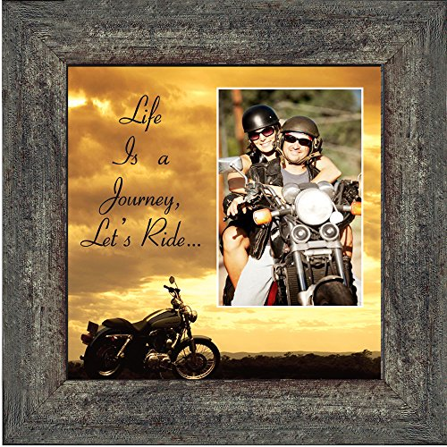 Bol Productions 6503LRSKY Motorcycle, Harley Davidson Picture Frame, Lets Ride Sky, 10x10 9750BW