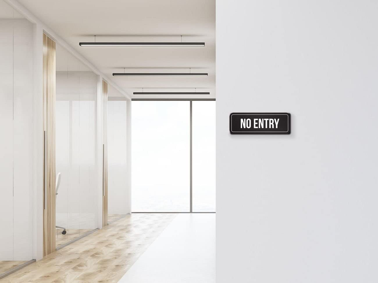 3x9 work place private privacy EMPLOYEES ONLY door sign hotel office commercial entrance