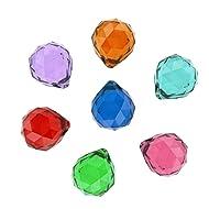 Hdecor 50mm Vintage Feng Shui Faceted Decorating Crystal Ball Prism (Multi-color 7pcs)