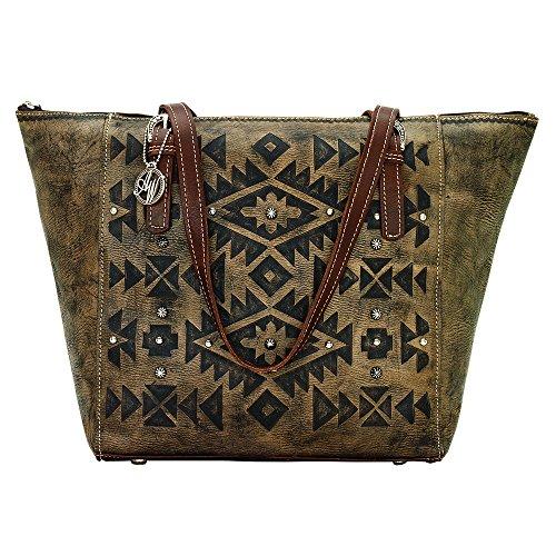 american-west-womens-mystic-shadow-zip-top-bucket-tote-bag-dark-brown-one-size