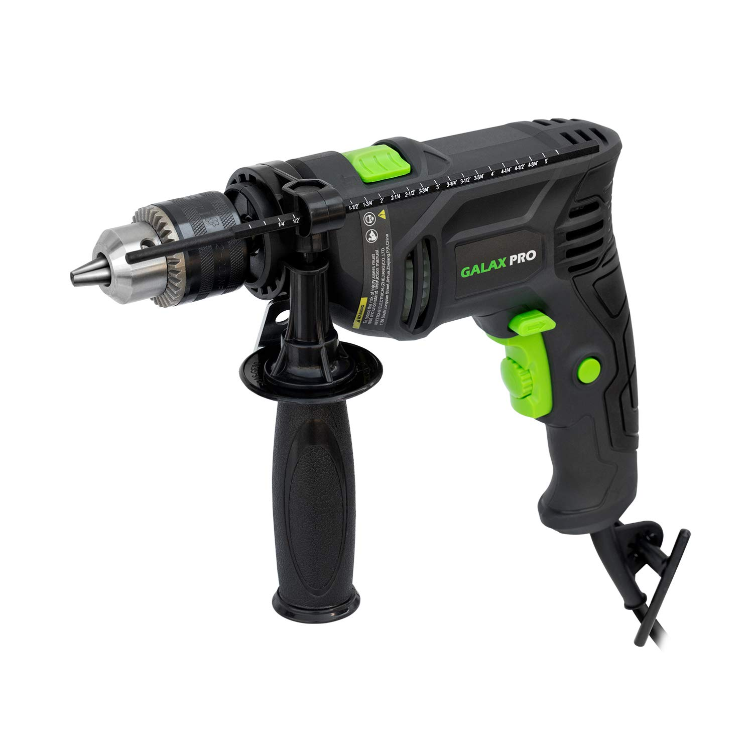 Hammer Drill, GALAX PRO 5Amp Electic Corded Drill, 1/2'' metal chuck, 0-3000RPM, Powerful Variable speed Drill for drilling in steel, concrete, and steel_GP57322
