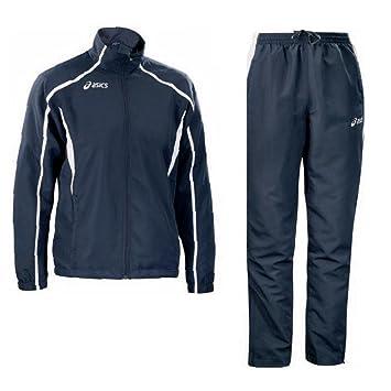 706a38e3b9 ASICS Tuta sportiva uomo giacca zip + full pantaloni EVENT bianco blu  T772Z5: Amazon.it: Sport e tempo libero