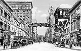 Portland Historic Black & White Photo, Theatres on Southwest Sixth Avenue, c1914