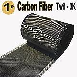 1 FT x 12'' - Carbon Fiber FABRIC-2x2 Twill WEAVE-3K/220g