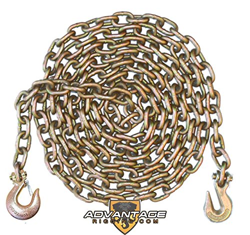 3/8 Inch 10 Foot Feet Grade 70 Transport Binder Chain with Slip Hook and Grab Hook