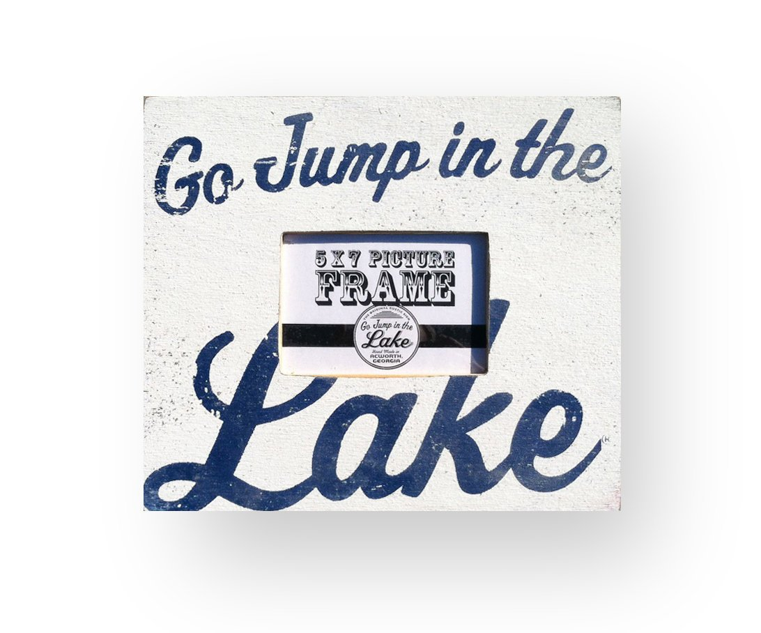 Amazoncom Go Jump In The Lake 5 X 7 Photo Frame Lake Decor Lake