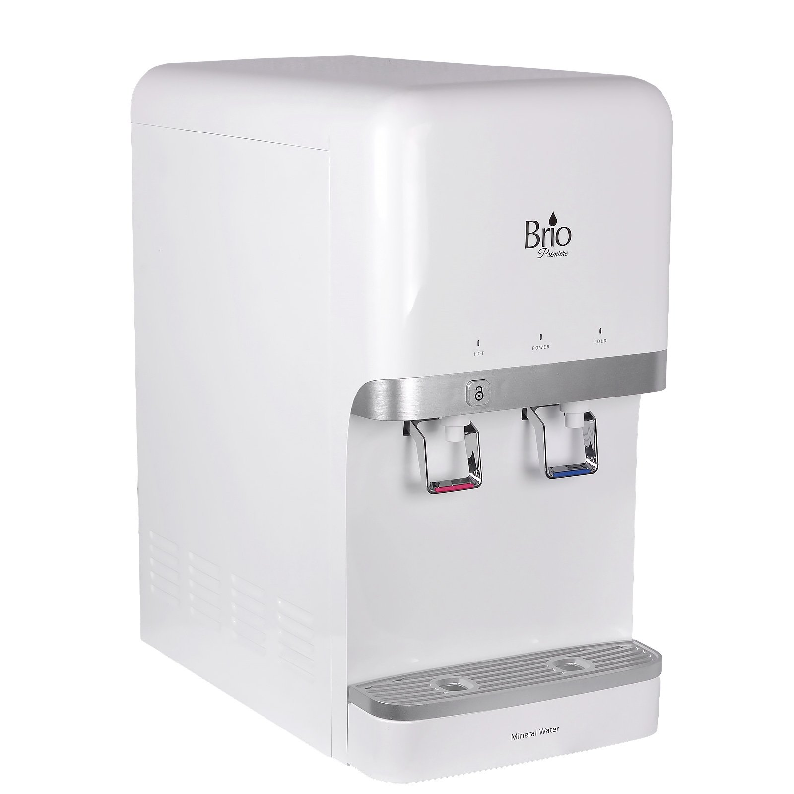 Brio and Magic Mountain Water Products 5 Stage R/O Countertop Bottleless Water Dispenser Brio CL3000U (5 Stage EZ Change R/O, White (Mini)