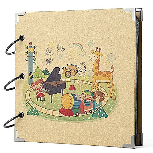FaCraft Baby Scrapbook Vintage DIY Photo Album Babies (8x8 Inch,Baby - Scouts 12x12 Album Scrapbook
