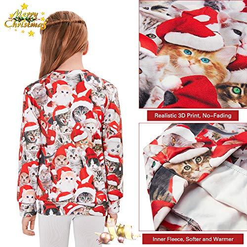Freshhoodies Kids Boys/Girls Ugly Christmas Sweatshirts 3D Novelty Pullover Xmas Jumpers 6-16 Years