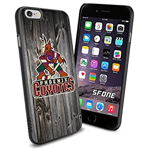 Arizona Coyotes Black Wood WADE1631 Hockey iPhone 6 4.7 inch Case Protection Black Rubber Cover Protector