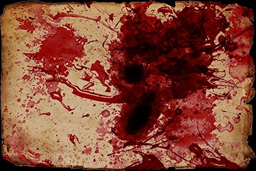 Gifts Delight Laminated 36x24 inches Poster: Blood Spatter Blood Scroll Grunge Bloody Violence Creepy Design Texture Wallpaper Horror Halloween Scary Spooky Evil Pattern Backdrop Artistic