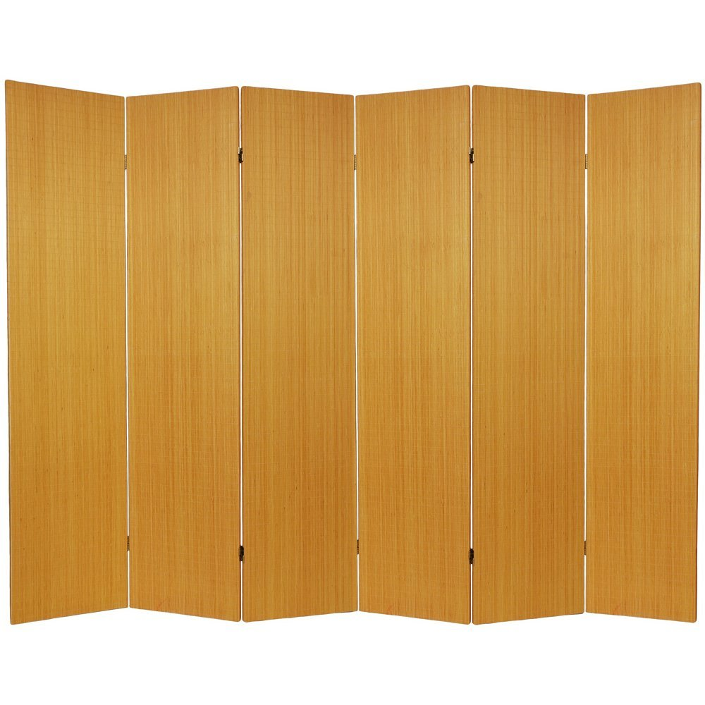 Nice Amazon.com: Oriental Furniture 6 Ft. Tall Frameless Bamboo Room Divider    Honey   4 Panels: Kitchen U0026 Dining