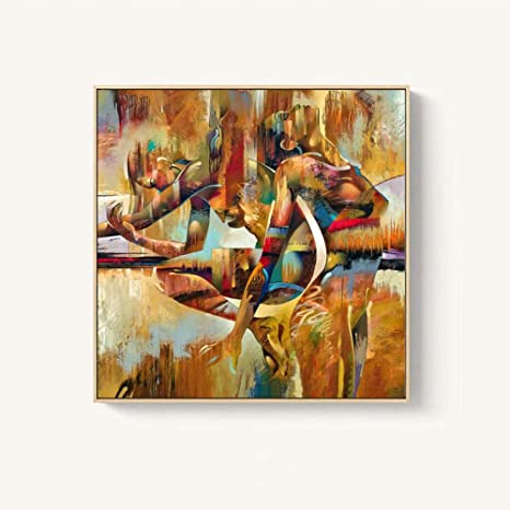 Amazon Com Vintage Poster Girl Picturs Wall Art Colorful Canvas Painting Print Abstract Picture Forliving Room Bedroom Bathroom Home Decor60x60cm No Framed Posters Prints