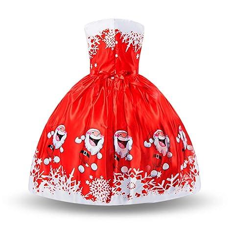 AOTUO - Vestido de Navidad para niños, diseño de Papá Noel ...