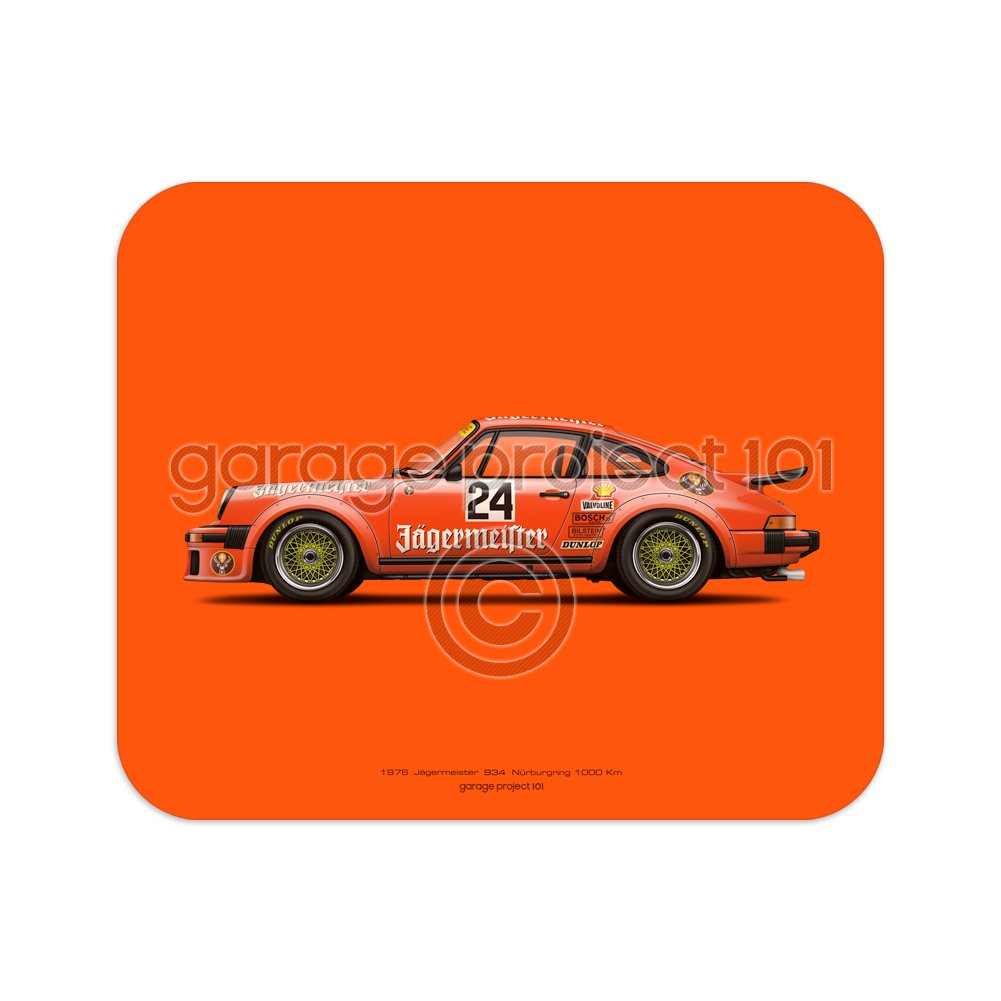 Amazon.com : GarageProject101 Jägermeister Carrera Turbo RSR illustration Mouse Pad : Office Products