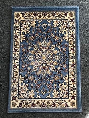 Deir Debwan Traditional Oriental Door Mat Area Rug Blue Persian 330,000 Point Design 603 2 Feet X 3 Feet