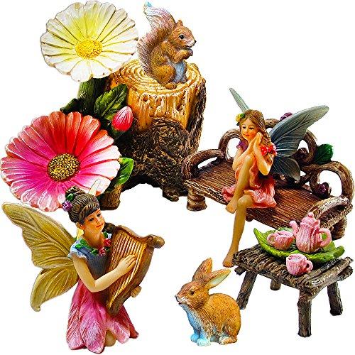 Fairy Garden Miniature Friends Fun Set