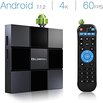 globmall TV Box Android 7.1, 2 GB RAM 8 GB ROM Smart Android TV Box [2018 última generación X3] con Quad Core CPU 64 Tuercas Soporte Video 4 K (60Hz) Full HD/H.265: Amazon.es: Electrónica