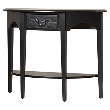 Ordinaire Charlton Home Apple Valley Console Table, Half Moon Shape, Slate