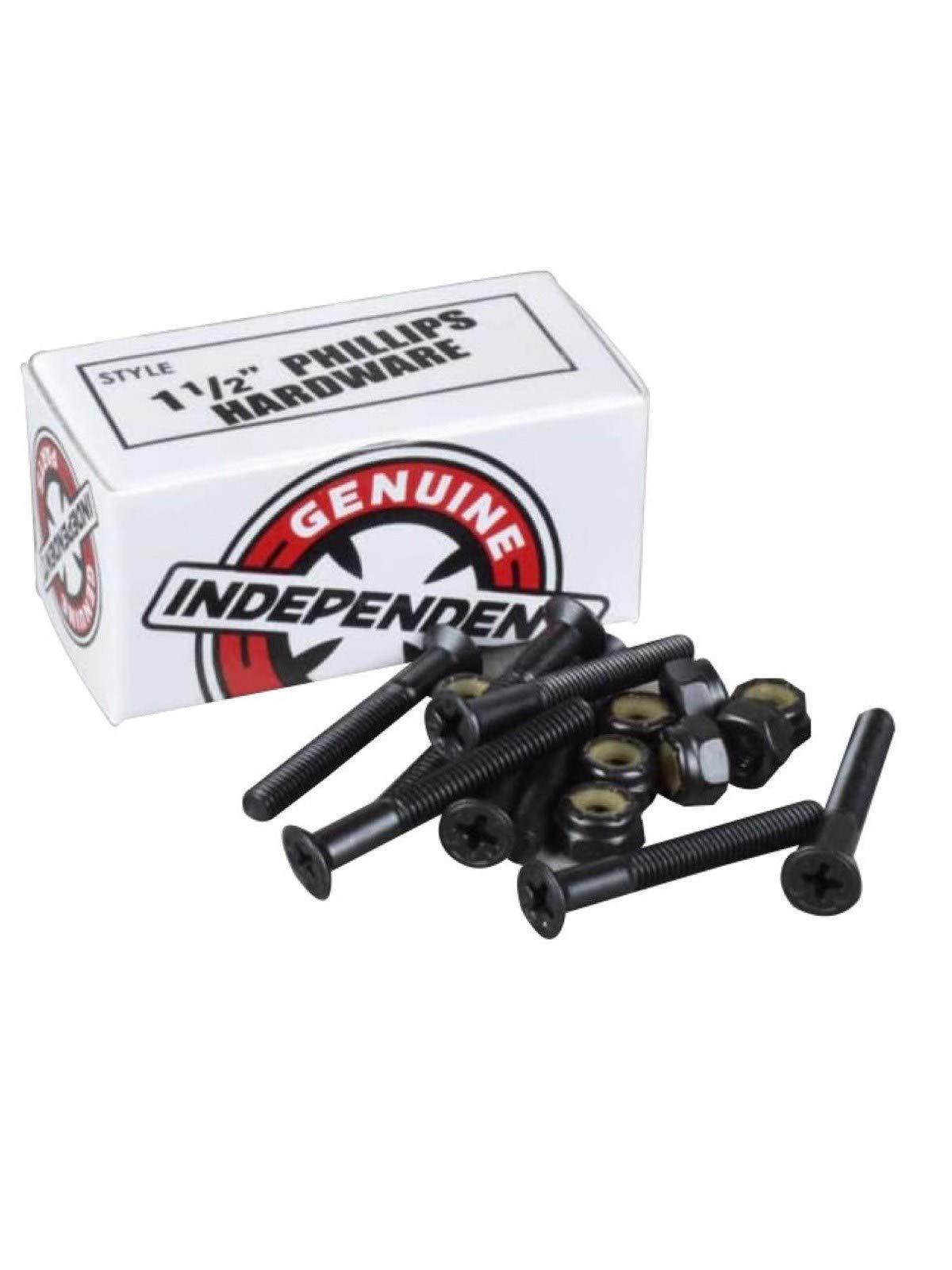 Independent Genuine Parts Cross Bolts Standard Phillips Skateboard Hardware (Black/Black, 1 1/2'')