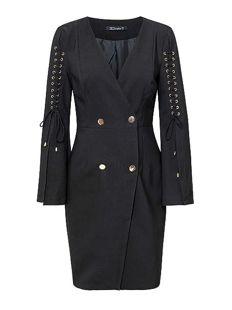 Amazon.com: Simplee - Mini vestido de mujer con encaje ...