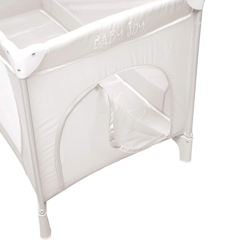 125cm Carry Bag Including: Folding Mattress Folding Base Black Baby Joy Large Portable Folding Child Baby Travel Cot Crib Bed Playpen for Children Mosquito Net