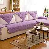 AFAHXX Plush Thicken Sofa Cushion,Quilted Cotton Couch Covers Non-slip Furniture Protection Cover Decorative Slipcover-purple 70210cm(2883inch)