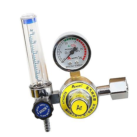 MagiDeal Reductor De Presión Argón Mig Tig Control De Flujo Regulador Gas Soldadura De Calibre Motor