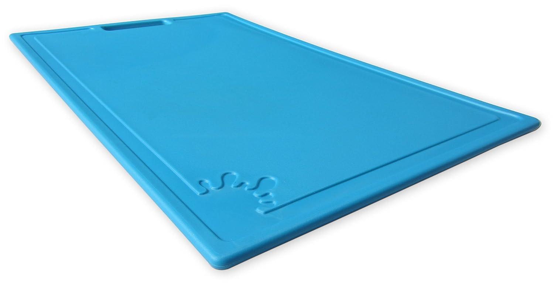 Chopping Board Plastic Non-Slip Feet Cutting Board Large Medium Blue Red Green Purple Feet Dishwasher Safe Antibacterial (Medium, Lime) MS Plastics